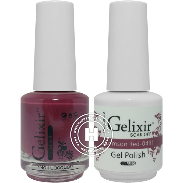 Gelixir Soak Off Gel Polish - Crimson Red 0.5oz 2/Pack