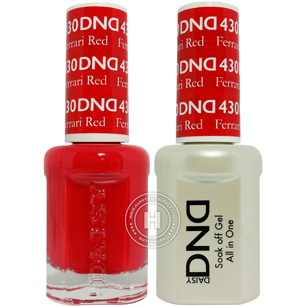 Dnd Duo Ferrari Red Gel Matching Nail Polish 430
